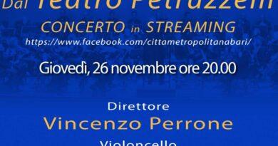 Quarto appuntamento in streaming con l'Orchestra Sinfonica della Città Metropolitana di Bari